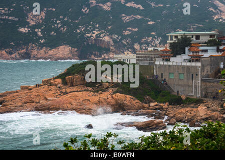 Shek O, Hong Kong, and South China Sea - Stock Photo