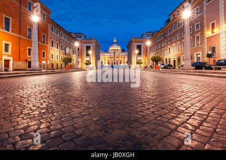 Saint Peter Cathedral in Rome, Vatican, Italy. - Stock Photo
