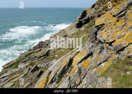Ile de Groix, Bretagne, trou de l'enfer, ile de groix, insel,  Bretagne, frankreich, küste, ufer, felsen, rau, welle, wellen, brandung, gischt, natur,landschaft