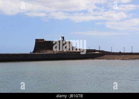 View of Castillo de San Gabriel located in Arrecife, Lanzarote. - Stock Photo