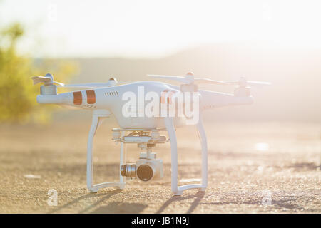 Stock Photo - Phantom Drone with camera attached - Stock Photo