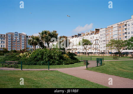 Warrior Square and Gardens, St Leonards On Sea, East Sussex, UK - Stock Photo