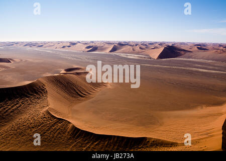 aerial view of the dunes of sossusvlei - Stock Photo