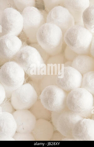 Cotton Ear Cleaning Buds On Black Background - Stock Photo
