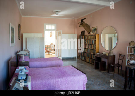 Finca la Vigia, home of author Ernest Hemingway from 1939-1962 in small town of San Francisco de Paula near Havana - Stock Photo