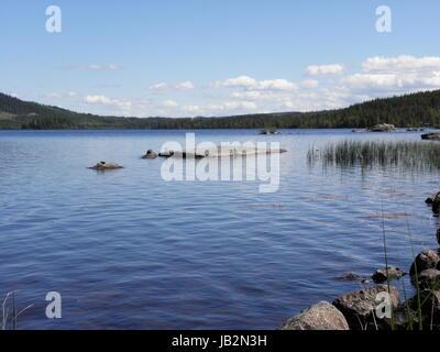 Norwegen - Idyllischer See - Stock Photo