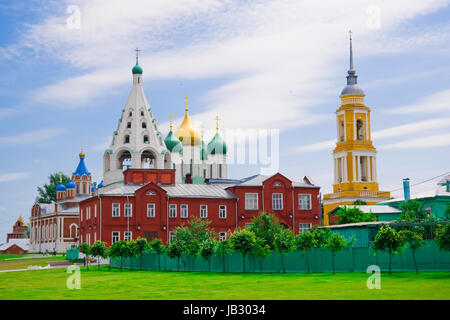 Orhodox Churches in the Kolomna kremlin, Russia - Stock Photo