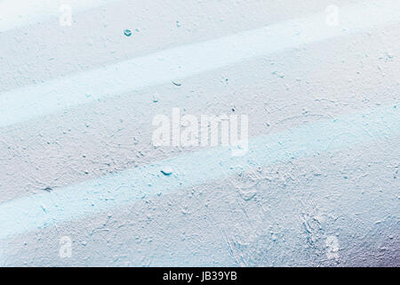 Abstract detail of wall with fragment. Gentle blue tone graffiti, scratch, grunge texture. Aerosol design of lines. - Stock Photo