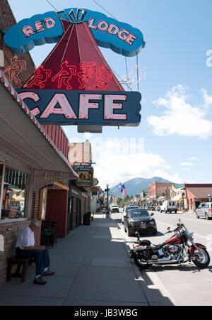 Red Lodge Cafe, Red Lodge, Montana, United States. - Stock Photo