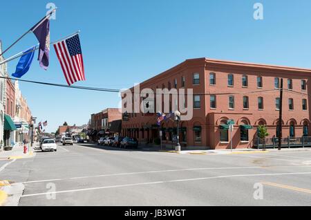 Pollard Hotel, Red Lodge, Montana, United States. - Stock Photo