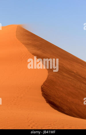 Sossusvlei sand dunes landscape in the Nanib desert near Sesriem, Namibia - Stock Photo