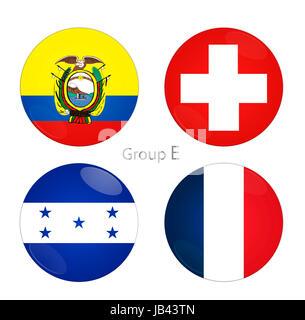 Group E - Ecuador, Switzerland, Honduras, France at world cup 2014 - Stock Photo
