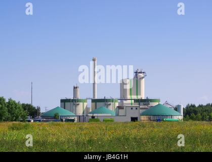 Biogasanlage - biogas plant 90 - Stock Photo