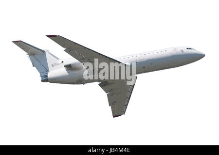Beautiful passenger airplane isolated on white background - Stock Photo