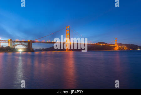 World Famous landmark of the world, Golden Gate Birdge - Stock Photo