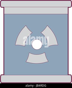 poster with radiation symbol of danger - Stock Photo