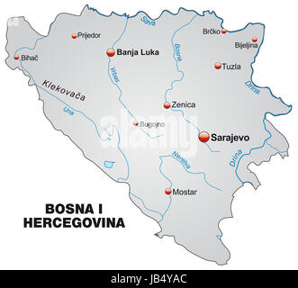 Die Karte ist modern gestaltet und enthält alle wichtigen Topographischen Informationen.  Die Karte kann sofort - Stock Photo