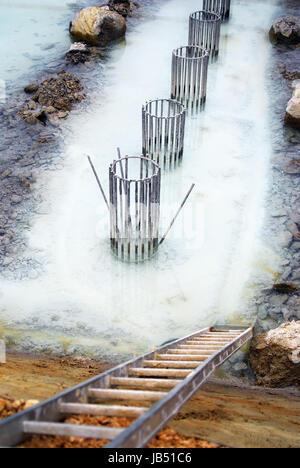 Fundament für Saeulen im Grundwasser - Stock Photo