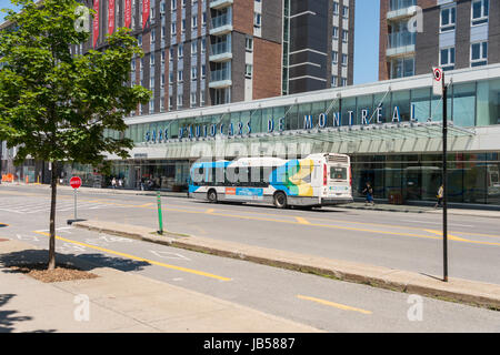 Montreal, CANADA - 8 June 2017: Outside Montreal Coach Terminal - Stock Photo