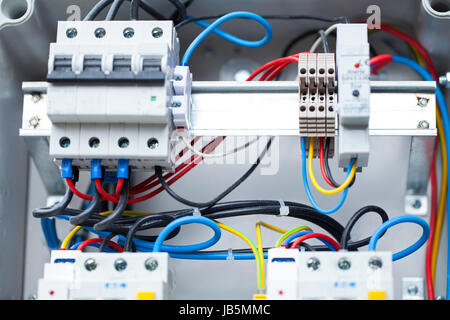 Close up picture of an electric fuse in domestic use - Stock Photo