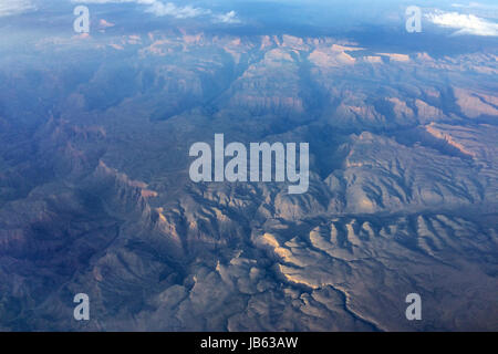Grand Canyon aerial - Stock Photo