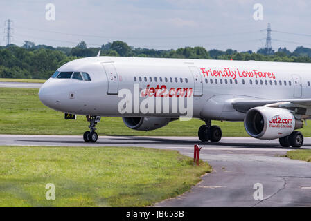 Aircraft Manchester airport Jet2 Airbus A320 - Stock Photo