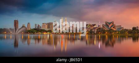 Kuala Lumpur Panorama. Cityscape image of Kuala Lumpur, Malaysia during sunset. - Stock Photo
