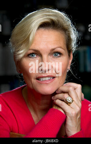 Actor Fiona  Fullerton at her home. - Stock Photo