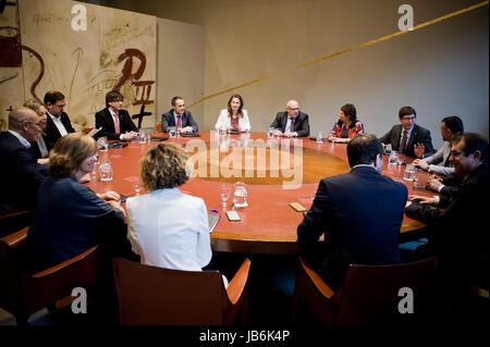Barcelona, Catalonia, Spain. 09th June, 2017. June 9, 2017 - Barcelona, Catalonia, Spain. Catalan regional president - Stock Photo