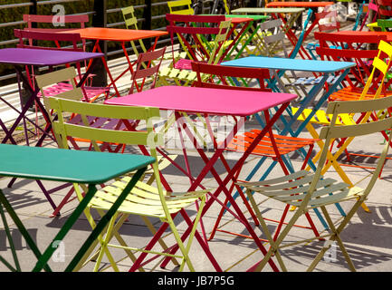 Colorful Tables And Chairs Stock Photo 227160071 Alamy