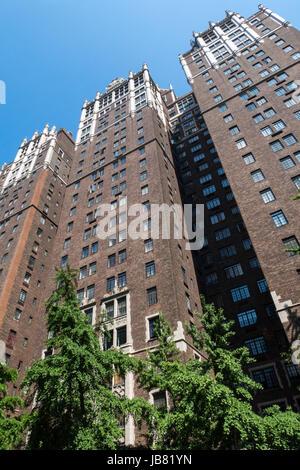 Tudor City Place Architecture, NYC, USA - Stock Photo