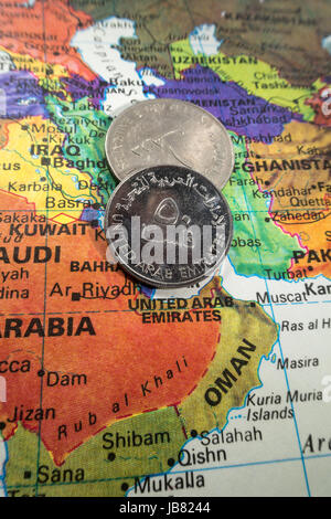 map of the united arab emirates on rusty metal Stock Photo ...
