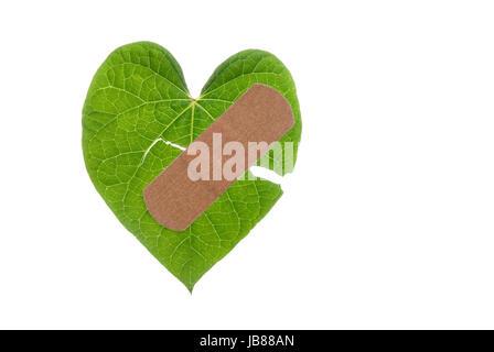 Broken Heart With Bandaid Stock Photo 4635486 Alamy