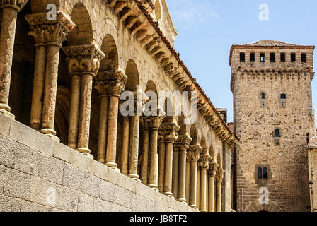 Iglesia de San Esteban (San Esteban Church), Segovia, Spain - Stock Photo