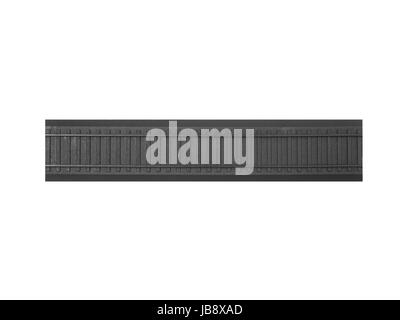 A toy train track isolated against a white background - Stock Photo
