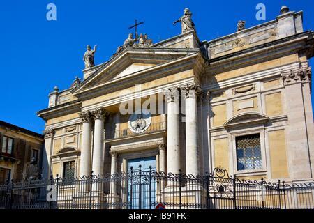 Italien, Italia, Sizilien, Catania, Innenstadt, Kirche, chiesa di San Biagio - Stock Photo
