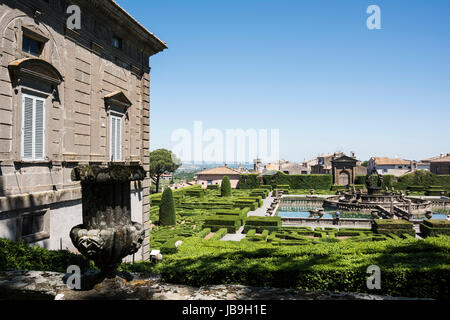 Bagnaia. Viterbo. Italy. 16th century Mannerist style Villa Lante and gardens, commissioned by Cardinal Gianfrancesco - Stock Photo