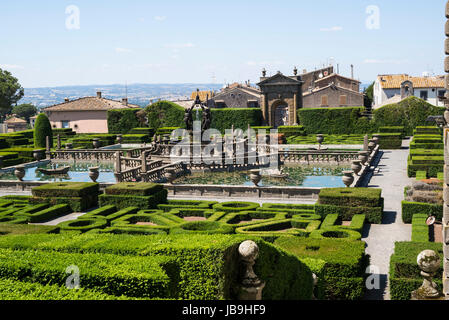 Villa Lante, Bagnaia. Viterbo. Italy. 16th century Mannerist style Villa Lante and gardens, commissioned by Cardinal - Stock Photo