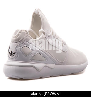 Adidas Tubular Runner White Men's Running Shoes - S83141 - Stock Photo