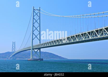 Suspension bridge in Kobe - Stock Photo