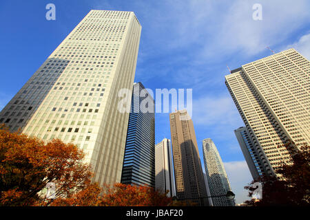 Financial district in Tokyo - Stock Photo