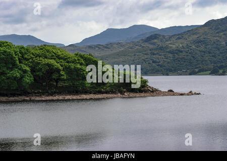 Lake View at Trawsfynydd Nuclear Power Station in Gwynedd, Wales. UK - Stock Photo