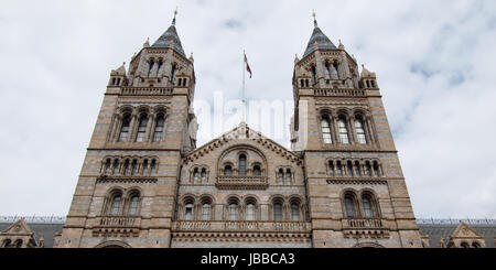 The Natural History Museum on Exhibition Road, South Kensington, London, England, UK - Stock Photo
