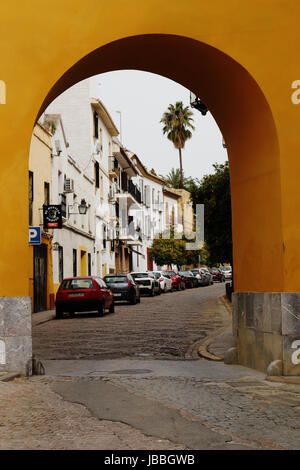 The charming streets in the old town of Cordoba, Andalusia, Spain - Stock Photo