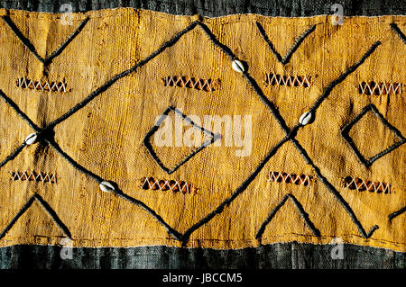 kuba raffia cloth from democratic republic of congo in studio setting - Stock Photo