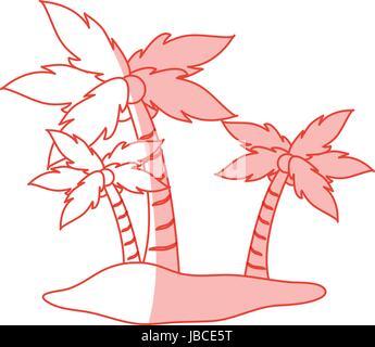 Island vector illustration - Stock Photo