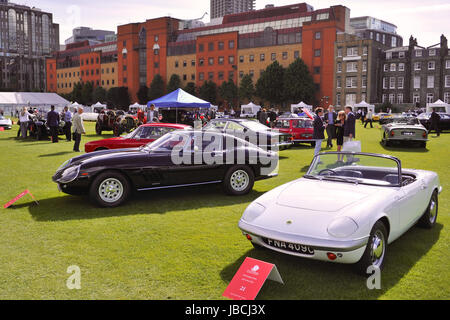 London, UK. 09th June, 2017. Bankers, buyers and petrol heads gathered yesterday for the inaugural City Concours - Stock Photo