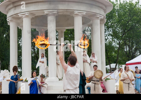 Moscow, Russia. 10th June, 2017. International Times & Epochs history reenactment festival in under way in Moscow. - Stock Photo