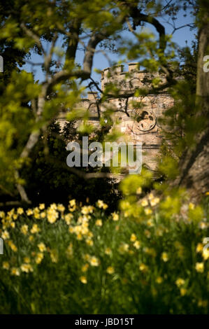 Turret at Ford Castle - Stock Photo