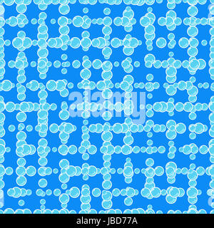 many soap bubbles on a tile, seamlessΠ- Stock Photo